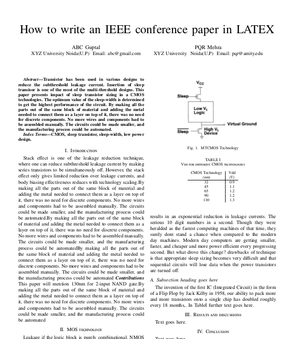 IEEE conference paper in LATEX - linux - Freemindscafe
