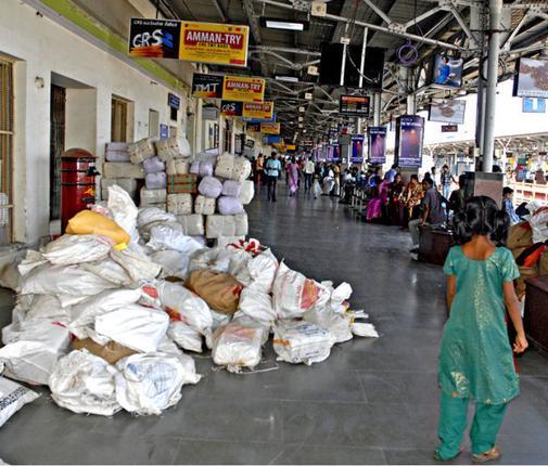 Sending goods using railway parcel service - Part I - living