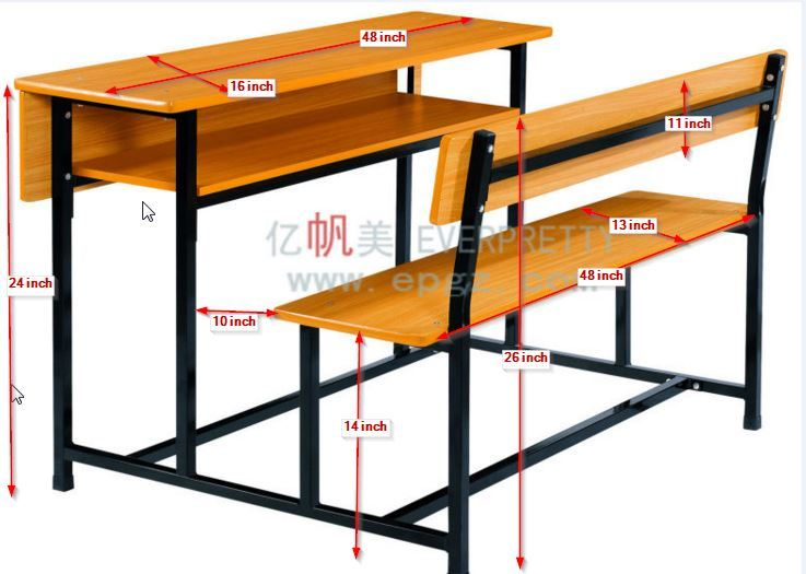 Classroom Table And Desks For A New, What Is The Size Of A School Desk